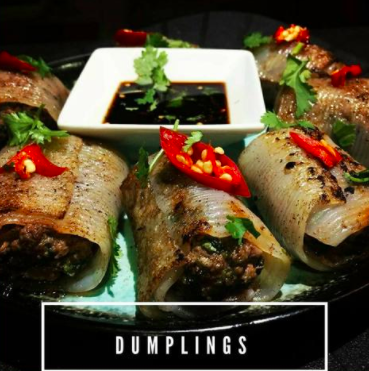 Low carb beed dumpling on a plate with sauce