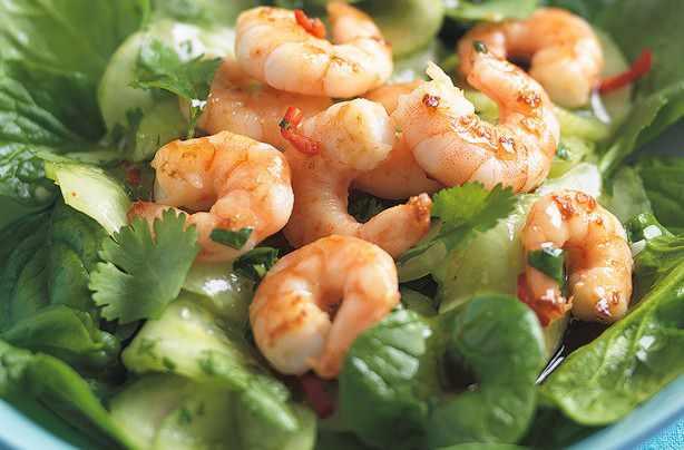 Pickled-Cucumber-Prawn-Salad