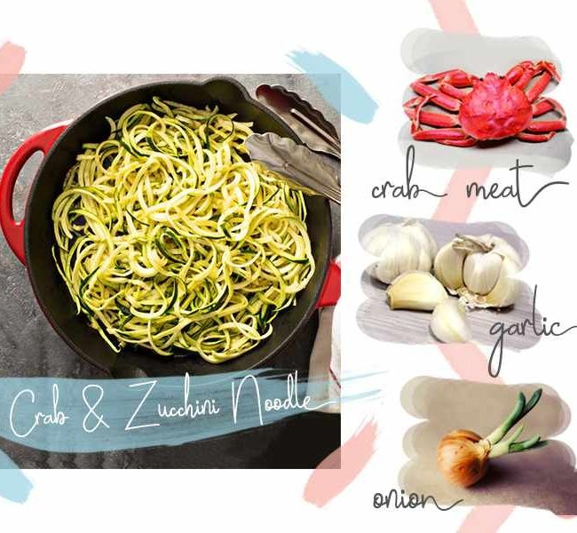 Crab and Zucchini Noodles